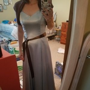 Dresses & Skirts - Formal light blue and brown satin dress